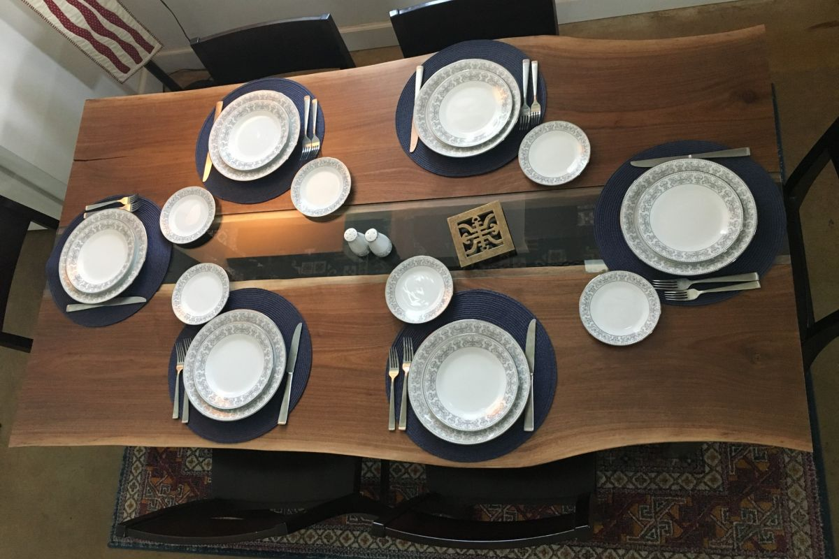dining table with plates
